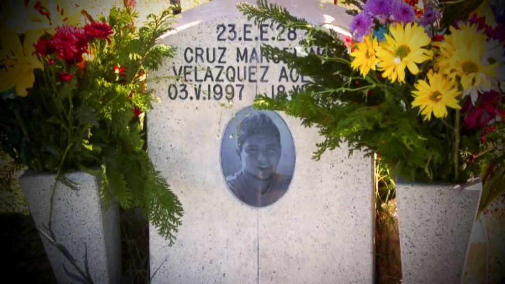 PHOTO: Cruz was buried on a hill in Tijuana, Mexico.