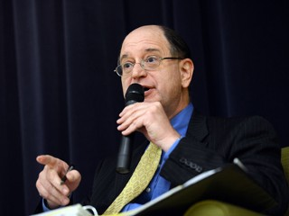 PHOTO: U.S. Rep. Brad Sherman speaks during a debate against U.S. Rep. Howard Berman at ONEgeneration Senior Center in Reseda, Calif.