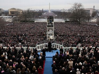 PHOTO: President Barack Obama gives his Inaugural address on the West Front of the Capitol in Washington, Monday, Jan. 21, 2013, during the ceremonial swearing-in ceremony during the 57th ...