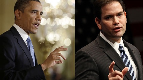 ap obama rubio 130114 wblog Marco Rubios Moment (The Note)