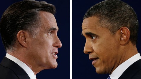 ap romney obama 121010 wblog On Debate Eve, A Dead Heat (The Note)