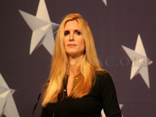 PHOTO: Conservative commentator Ann Coulter cited public intellectual Charles Murray in her attack on Latino voters last week.