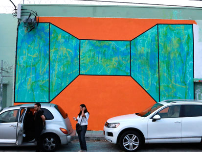 Art basel miami graffiti murals all over wynwood abc news for Abbey road mural