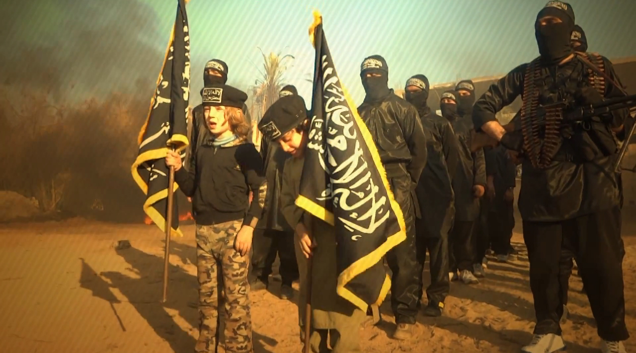 HT nusra training video jtm 140305 Video Purportedly Shows Syrian Jihadi Group Using Kids as Flag Bearers