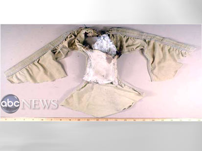 UNDERWEAR WITH EXPLOSIVE PACKET