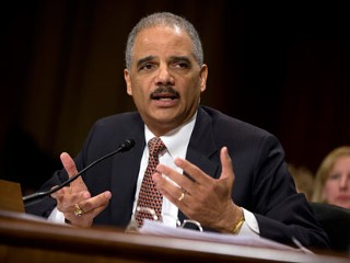 "PHOTO: Attorney General Eric Holder testifies on Capitol Hill in Washington, March 6, 2013, before the Senate Judiciary Committee hearing: ""Oversight of the U.S. Department of Justice."""