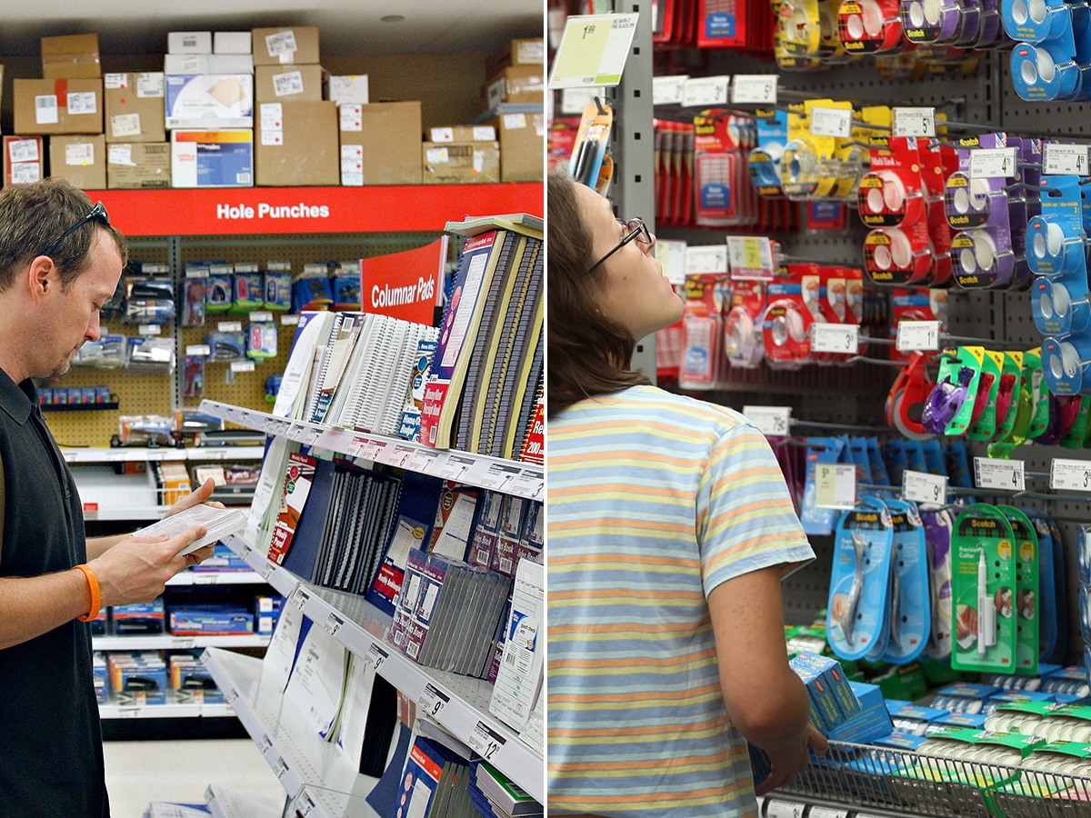 Superbe PHOTO: Customers Shop For Office Supplies In An Office Depot, Left, And A  Staples.   ABC News