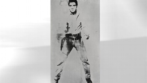ap warhol kb 120509 wblog Andy Warhols Double Elvis Could Fetch $50 Million