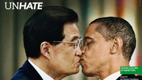 benetton unhate obama hu jintao dps wblog Benetton Unhate Ad Campaign Features World Leaders Kissing