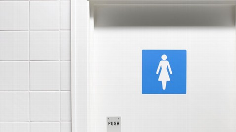 gty bathroom sign nt 130321 wblog NYC Company Requests Fewer Toilets for Female Employees