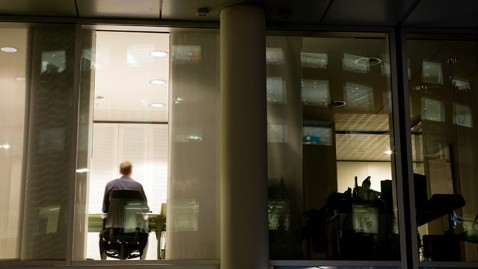 gty office worker night nt 130419 wblog Work Life Balance Off Kilter, Research Finds