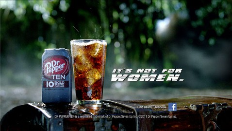 ht Dr Pepper TEN TVC Screen Shot jt 111010 wblog Dr. Pepper Ten: Its Not for Women, Macho Marketing Campaign Says