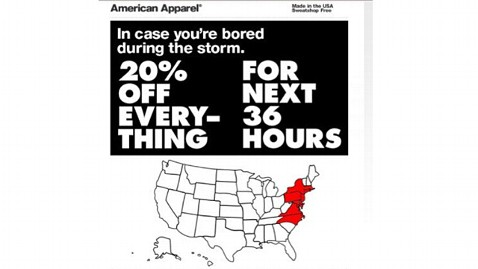 ht american apparel sandy ad ll 121030 wblog Hurricane Sandy Sales: Good Business or Bad Taste?