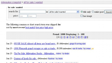 ht craigslist milwaukee tk 120125 wblog Craigslist Robberies By Appointment on Rise