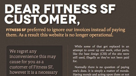ht dear fitness customer dm 130215 wblog Payment Dispute Leads to Hack of Gym Websites