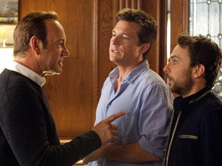 "PHOTO: Kevin Spacey, Justin Bateman, and Charlie Day are seen in a scene from their movie, ""Horrible Bosses."""
