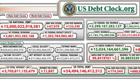 ht national debt clock wy 111116 wblog $15 Trillion Debt, Newt and Freddie Mac, Perrys Misleading Lazy Ad, and Pizza Vegetable; The PM Note