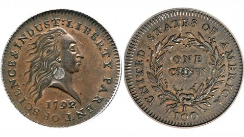 ht silver center coin jef 120419 wblog Rarest Penny Auction Tops $1 Million