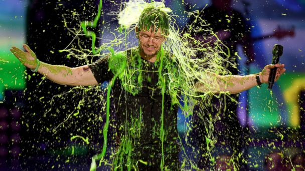 AP Mark Wahlberg 140331 DG 16x9 608 Mark Wahlberg Gets Slimed, Thanks to His Kids (and Kevin Hart)