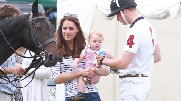 AP prince william kate middleton prince george 2 jt 140615 16x9 608 Baby George Steals the Show at Prince Williams Fathers Day Polo Match