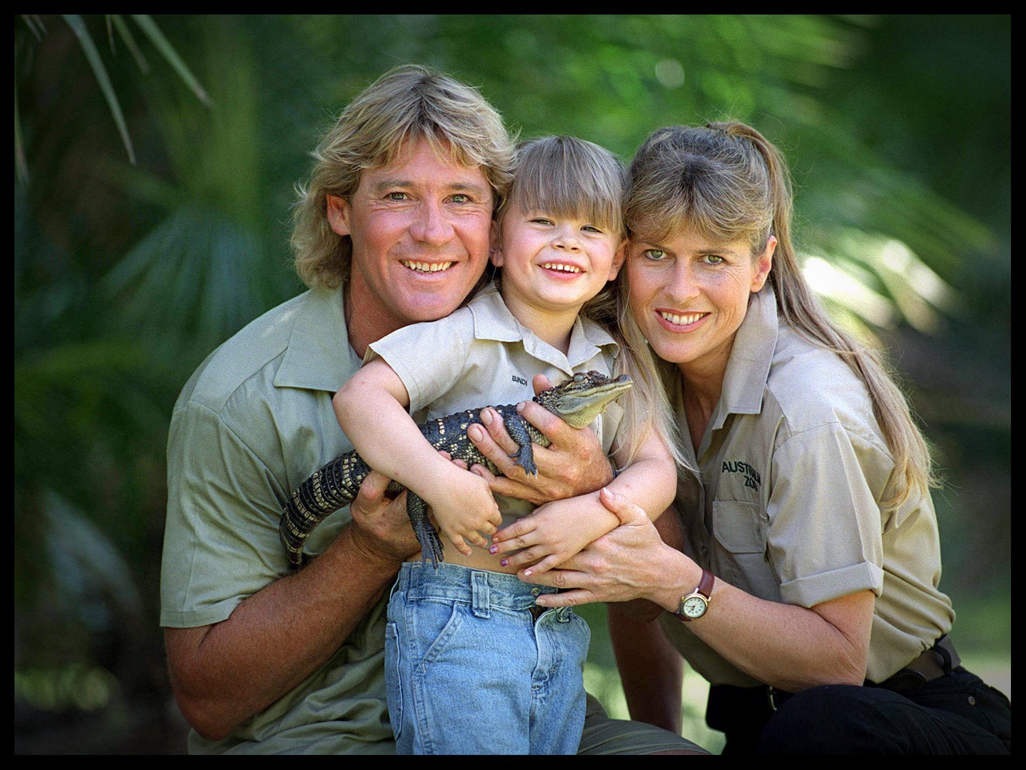 PHOTO: Steve Irwin is seen here with his wife Terri Irwin , daughter ...