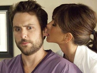 PHOTO: Charlie Day and Jennifer Aniston in 'Horrible Bosses'.