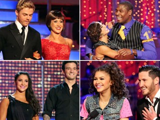 "PHOTO: Kellie Pickler, Aly Raisman, Jacoby Jones and Zendaya compete in the season 16 finals of ABC's ""Dancing With the Stars."""