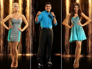 "PHOTO: Cast members from season 16 of ABC's ""Dancing With the Stars. Left to right, Singer song-writer Kellie Pickler, athlete Victor Ortiz, and actress and singer Zendaya."