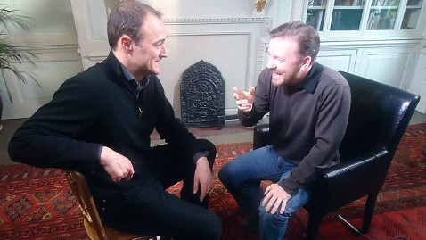 abc gervais interview jef 120702 wblog Ricky Gervais Defends Controversial Lifes Too Short, Derek British TV Shows
