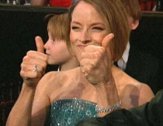 abc globes jodie foster dm 120116 ssh Jodie Foster Brings Sons Into Limelight at Golden Globes Ceremony