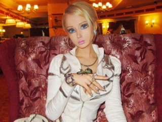 "PHOTO: Valeria Lukyanova is one of the most widely viewed, and discussed, women on the Internet but now the Ukranian model known as the ""human Barbie"" for her doll-like figure is speaking out to deny ..."