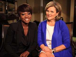 PHOTO: Viola Davis and ABC News' Cynthia McFadden are shown. Davis recently discussed her journey from poor, racially abused girl to Oscar-nominated star of 'The Help.'