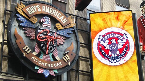 ap guy fieri restaurant jp 121114 wblog Guy Fieri Times Square Eatery Skewered by NYT Critic