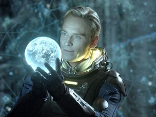 "PHOTO: This film image released by 20th Century Fox shows Michael Fassbender in a scene from ""Prometheus."""