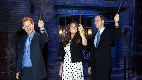 ap royals harry potter dm 130426 wblog Kate, William and Harry Cast Royal Spell on Harry Potter