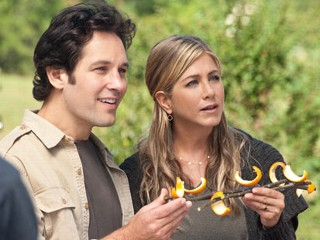 "PHOTO: In this film image released by Universal Pictures, Paul Rudd, left, and Jennifer Aniston are shown in a scene from ""Wanderlust."""