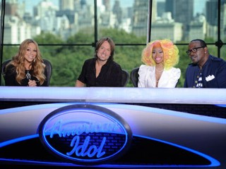 PHOTO: Mariah Carey, Keith Urban, Nicki Minaj and Randy Jackson are ready to judge at the New York auditions of American Idol.