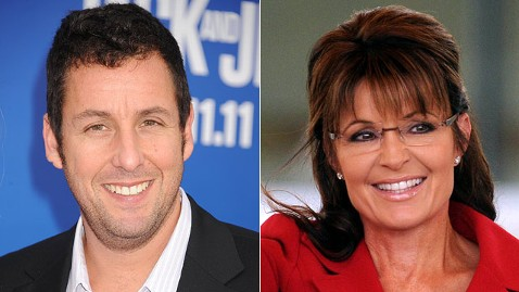 gty adam sandler sarah palin jt 120226 wblog Ahead of Oscars, Sarah Palin Snags Worst Actress Nomination for Playing Herself