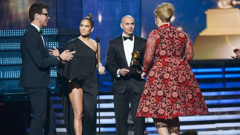 gty adele crasher mi 130212 wblog Grammy Intruder Jailed After Crashing Adeles Award Moment