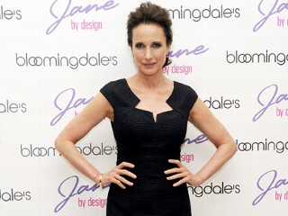 "PHOTO: Actress Andie MacDowell attends the ""Jane By Design"" Pop-Up Fashion Exhibit kick-off at Bloomingdale's 59th Street Store on Feb. 8, 2012 in New York City."