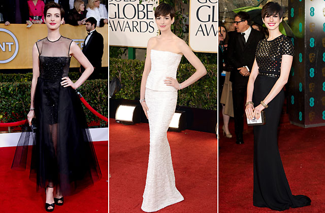 gty anne hathaway dresses nt 130215 blog Oscars 2013: Who Should Wear What?