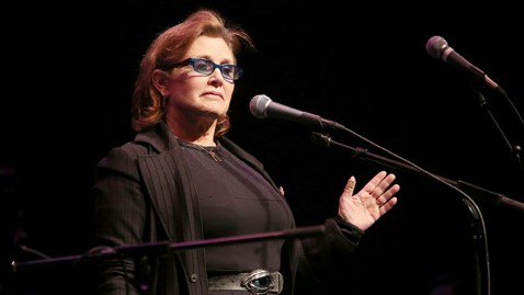gty carrie fisher nt 130227 wblog Carrie Fisher Hospitalized After Bipolar Incident