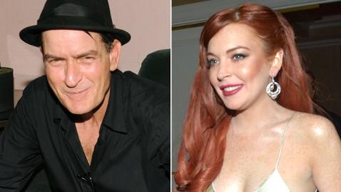 gty charlie sheen lindsay lohan nt 121210 wblog Charlie Sheen Says Lindsay Lohan Never Thanked Him for Handout