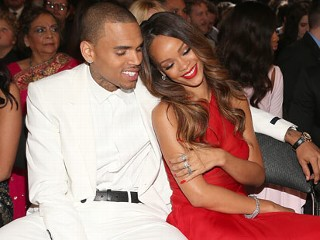 PHOTO: Chris Brown and Rihanna attend the 55th Annual GRAMMY Awards at STAPLES Center, Feb. 10, 2013 in Los Angeles.