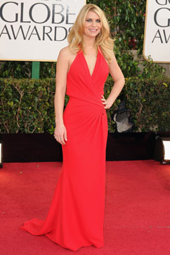gty claire danes tk 130113 vblog Claire Danes Flaunts Post Baby Body on Golden Globes Red Carpet