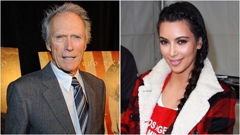 gty clint eastwood kim kardashian thg 111214 wblog Feeling Reality, Punk? Clint Eastwoods Family Rumored to do a Reality TV Show