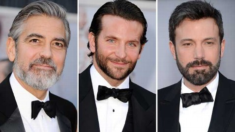 gty clooney cooper affleck thg 130224 wblog Oscars 2013: Stars Sporting Stubble on the Red Carpet