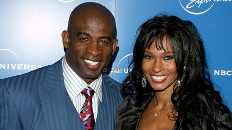 gty deion sanders pilar jef 120102 wblog Pilar Sanders Heartbroken Over Divorce From Deion Sanders; His Daughter Goes on Twitter Rant