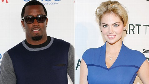 gty diddy upton mi 130410 wblog Kate Upton and Diddy: Were Not Dating