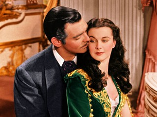 "PHOTO: Clark Gable and Vivien Leigh in the film, ""Gone with the Wind"", 1939."